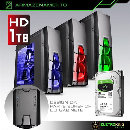 pc cpu gamer 4.0ghz 8gb 1tb video 4gb 128bits + kit gamer