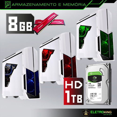 pc cpu gamer a4 7300 4.0ghz 8gb 1tb video 4gb 128bit