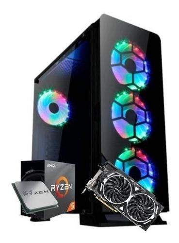 pc cpu gamer amd am4 ryzen 5 3400g 3º geração gtx 1660ti 6gb