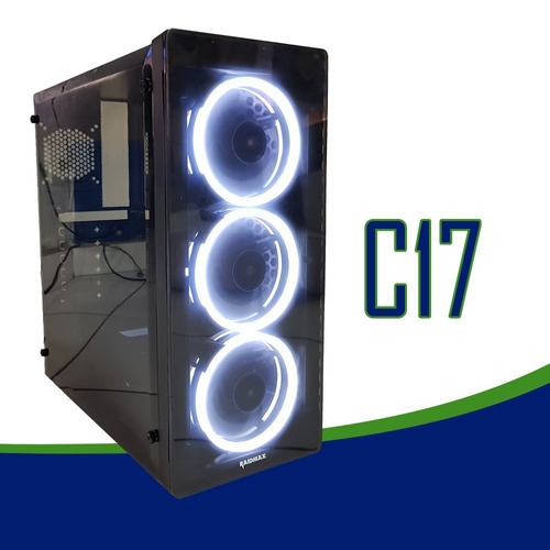 pc cpu gamer asus/ core i7 7700/16gb ddr4/ssd240/gtx1050 4gb