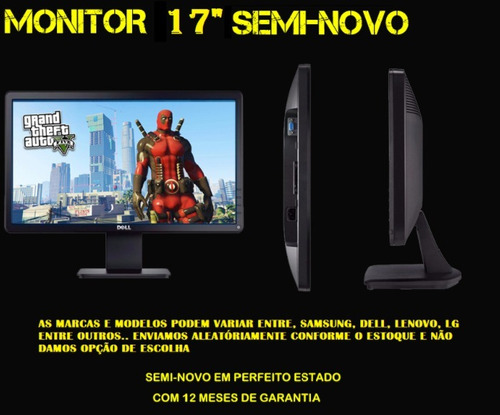 pc cpu gamer completo amd a4 6300 3.9ghz, 8gb, monitor 17