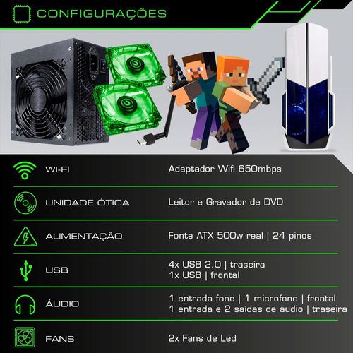 pc cpu gamer core i5 3.2ghz 1tb 8gb geforce 2gb + kit gamer