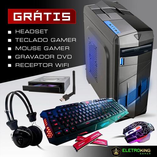 pc cpu gamer core i5 3.2ghz 1tb 8gb gtx 1050 2gb + kit