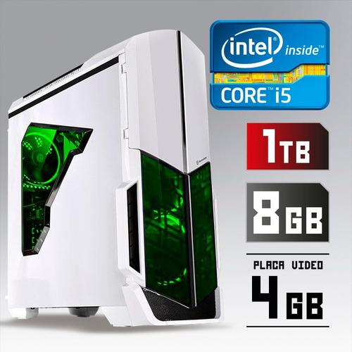 pc cpu gamer core i5 3.2ghz 1tb 8gb gtx 1050 ti 4 gb + kit