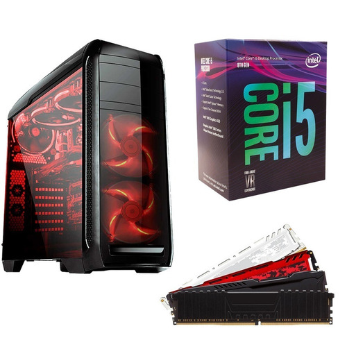 pc cpu gamer i5 8400 8gb ddr4 ssd 240gb fonte real 500 wats