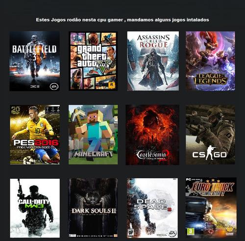 pc cpu gamer i5 8gb 1tb wifi gtxti free fire fortnite csgo