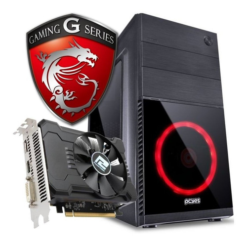 pc cpu gamer intel g3930 radeon rx-550 fonte 550w c/jogos