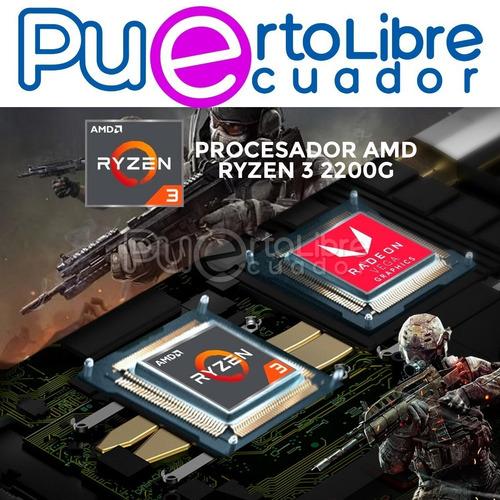 pc cpu gamer lenovo ryzen 3 mejor q i3 + 8gb + 1tb + t video
