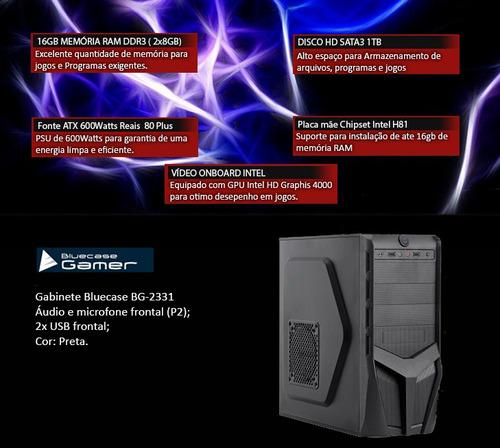 pc cpu i7 4ª geração 3.9 ghz, 16gb ram, hd 1tb, promoção