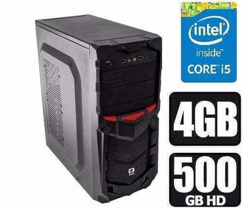 pc cpu intel core i5 3.10ghz + 500 hd + 4gb limpa estoque.