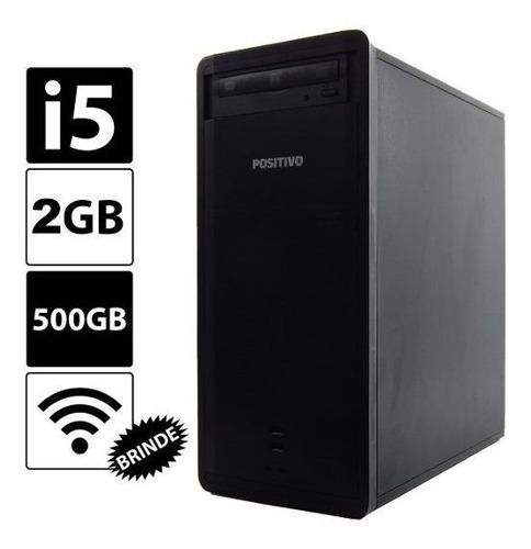 pc cpu positivo core i5 2gb 500gb win10 + wifi
