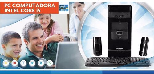 pc de escritorio armada computadora i5 8gb 480gb ssd