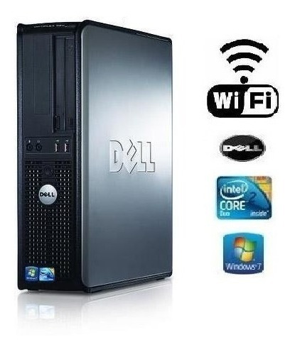pc dell 380 core 2 duo e7500/ 4gb ddr3 / hd 500 gb + wi-fi