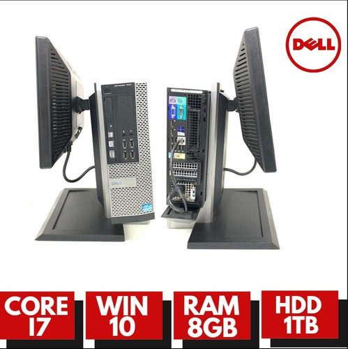 pc dell 7010 core i5 8gb ram 12x sem juros! com monitor dell