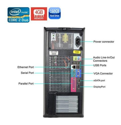 pc dell 780 intel core 2 duo e8400 4gb hd 500gb black friday