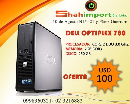 pc dell optiplex 780 intel core 2 duo 3.00ghz, 250gb disco