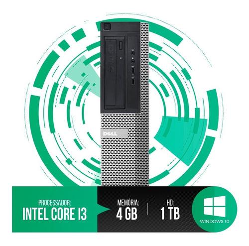 pc dell optiplex intel core i3,4gb ram ddr3,hd 1tb promoção