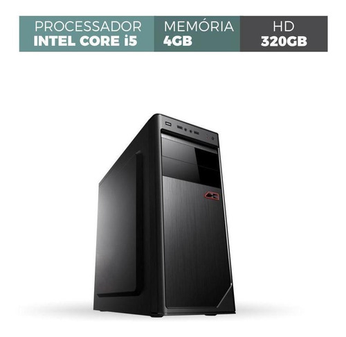 pc desktop corporate intel core i5 memória 4gb ddr3 hd 320gb