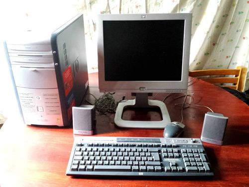 pc. escritorio hp pavillon. t120m. monitor color f1503