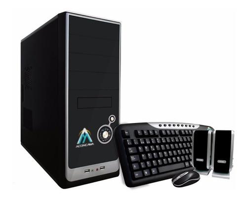 pc escritorio intel j1800 + 4gb ram + ssd + monitor 19