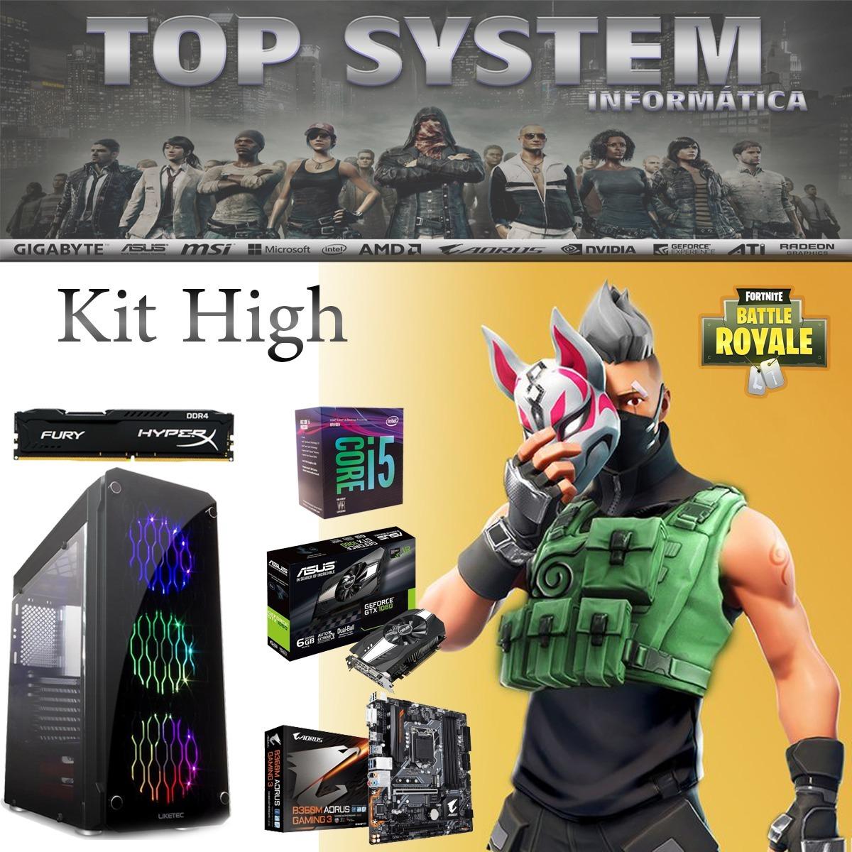 Pc Fortnite High - I5 8400/16gb/ssd 240gb/asus Gtx 1060 6gb
