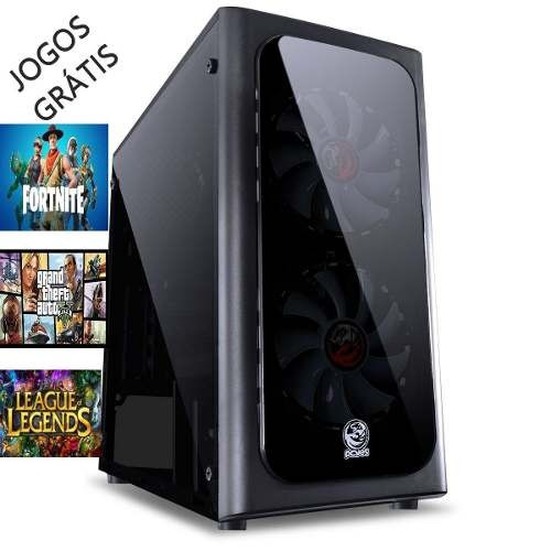 pc game hd 2 tb 16 gb ram placa vid geforce gt 1030 + jogos
