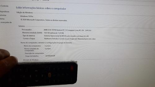 pc gamer a10 7870k gráfico integrado r7 250 memória 16gigas