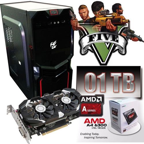pc gamer a4-6300 gtx 750ti / 8gb / 1tb