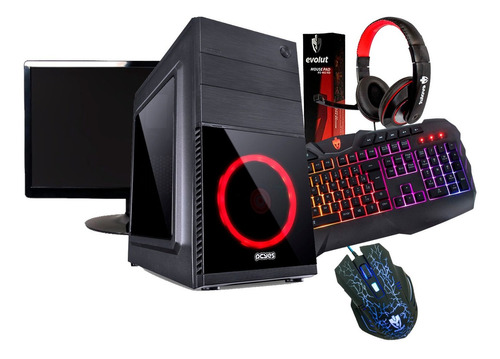 pc gamer a46300 8gb ram hd 1tb wifi fonte real 500w monitor