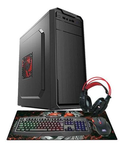 pc gamer aires core 2 duo gpu r7 240 4gb hd 500gb + wi-fi