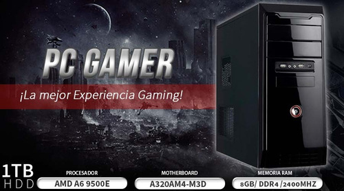 pc gamer amd a6 9500e bristol dual core 8gb 1tb radeon r5