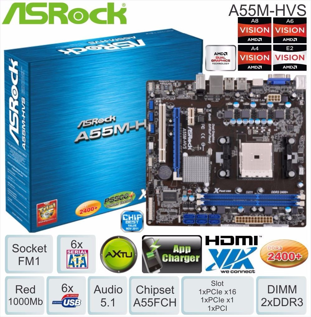 New Drivers: Asrock A55M-HVS AppCharger