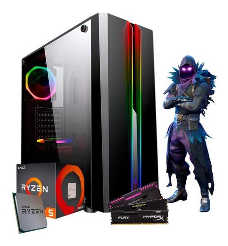 pc gamer amd ryzen 5 2400g vega graphics, 8gb ddr4 1tb