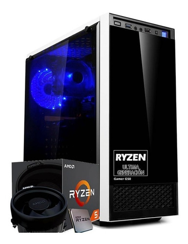 pc gamer amd ryzen 5 2600 six core 8gb ssd gtx 1050ti 4gb
