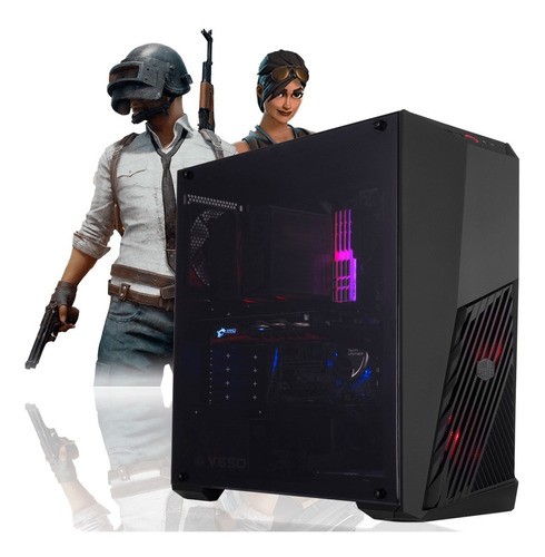 pc gamer amd ryzen 5 3400g 4-core + 8gb fury + 1tb + rx 570