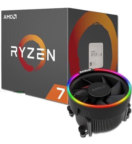 pc gamer amd ryzen 7 2700x + b450 + 16gb fury rgb + rtx 2060