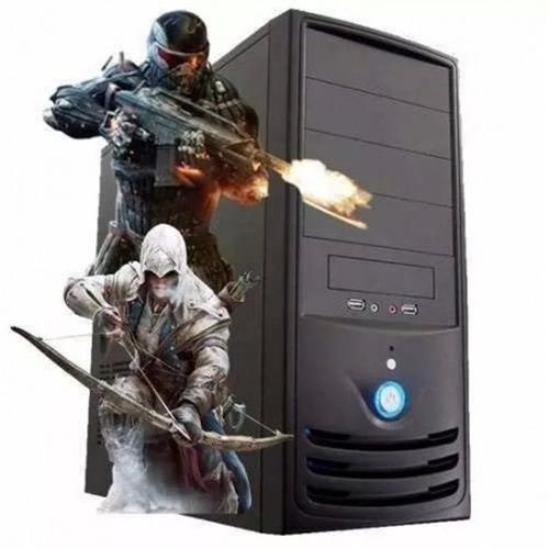 pc gamer amda8 + 4gb + 320gb c/ wifi e hdmi p/ jogos pesados