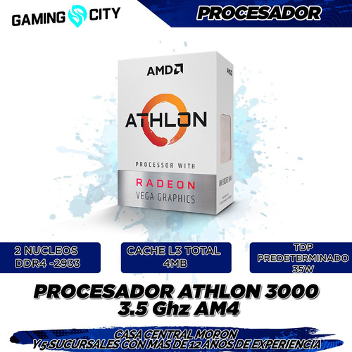 pc gamer armada amd athlon 3000g 8gb 240g ssd wifi cuotas