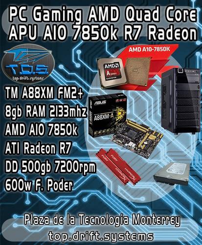 pc gamer asesoría y ensamble amd a10 - fx- core i5 i7 y mas.