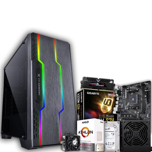 pc gamer athlon 200 ge 8gb geforce gtx 1050 ti 4gb 1tb hd
