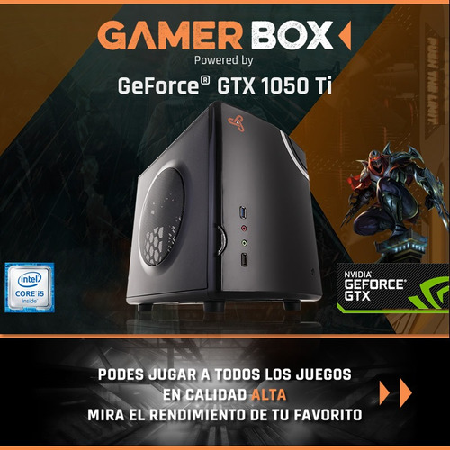 pc gamer box pro intel core i5 7400 geforce gtx 1050ti juga!