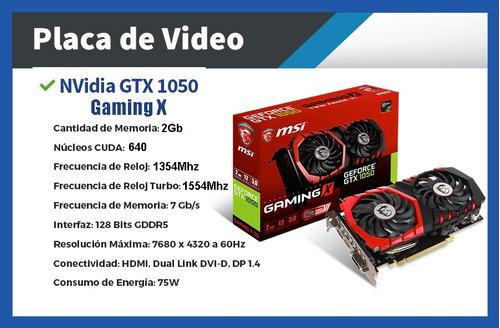 pc gamer completa - intel i7 8gb 1tb gtx 1050 fortnite
