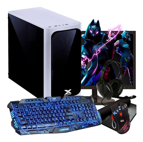 pc gamer completo com tela + kit / 8gb / geforce + jogos