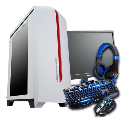 pc gamer completo core i5/ 8gb/ 1tb/ gtx 1050ti 4gb / wi-fi