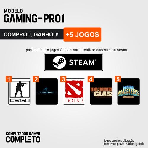 pc gamer completo i5 8gb hd 1000gb r5 230 wifi hdmi win10