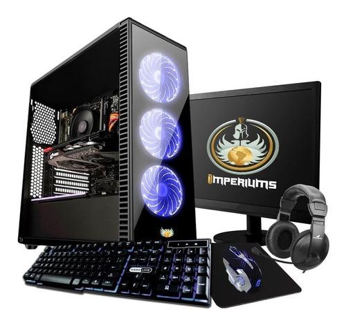 pc gamer completo intel g5400 8gb, 1050 novo barato pro