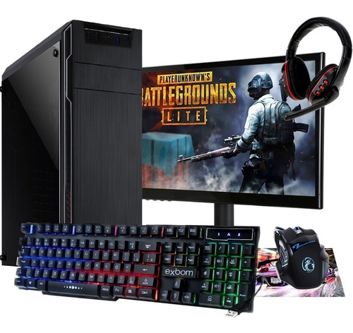 pc gamer completo novo barato 3.9ghz/ geforce2gb / pubg lite