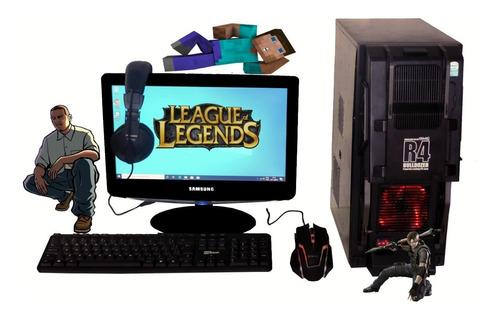 pc gamer core 2 duo+ 4gb+ 1000 jogos+ brindes+ promoção.