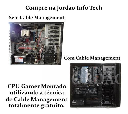 pc gamer core i3 + gtx 1030 2gb + ssd 120gb + 8gb ddr3