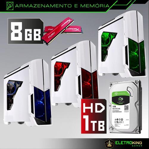 pc gamer core i5 3.2ghz 1tb 8gb gtx1050 2gb + kit